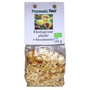 Ekologiczne płatki z kasztanów jadalnych 125g